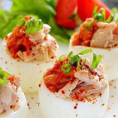 韓式金槍魚鑲蛋盅的做法