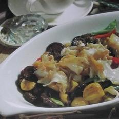 板栗蘑菇炒螺花的做法