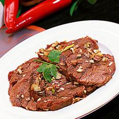凉拌冰碴辣牛肉的做法