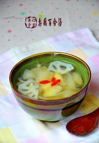 梨藕百合汤的做法哈士奇能吃鸭脖吗图片