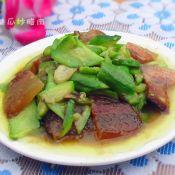 丝瓜炒腊肉的做法