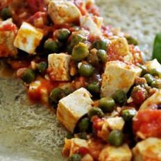 茄泥豆腐与荞麦煎饼