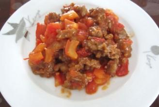 西红柿炒肉的做法