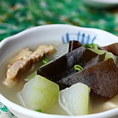 冬瓜海带咸肉汤