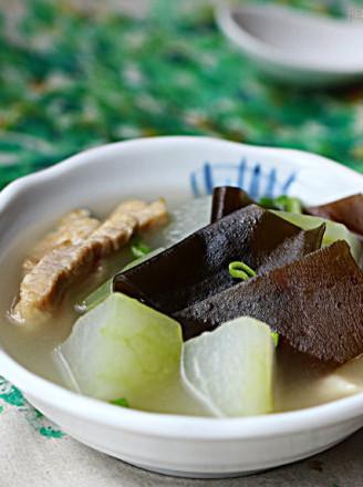 冬瓜海带咸肉汤的做法