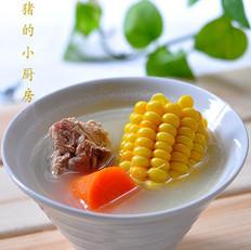 香甜玉米脊骨汤的做法