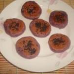 黑芝麻紫薯糯米餅的做法