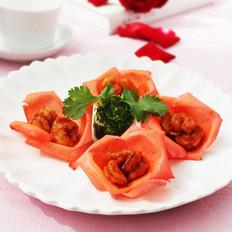 玫瑰虾球的做法