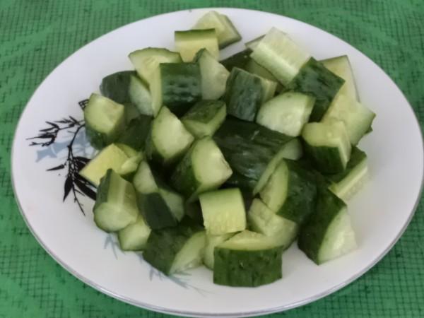 虾炒黄瓜的做法图片