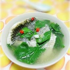 罗非鱼枸杞叶汤的做法