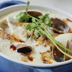 椰香肥蛤蒸蛋 的做法