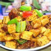豆腐烧兔肉
