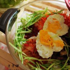 微波炉版朝鲜拌饭的做法