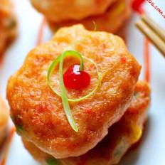 田园小虾饼 的做法