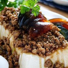 肉末皮蛋拌豆腐的做法