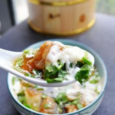 鸡汤油条豆腐脑
