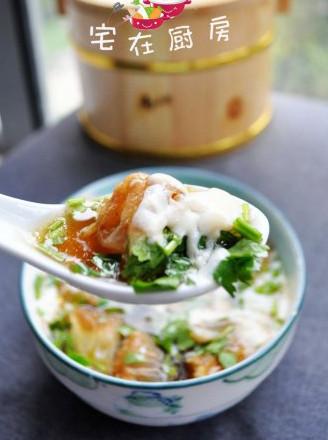 鸡汤油条豆腐脑的做法