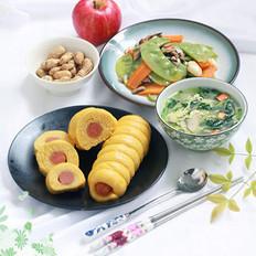 南瓜香肠卷的做法