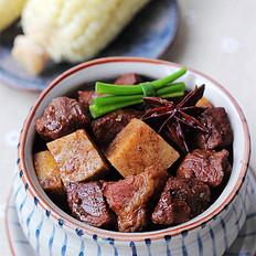 荔浦芋烧牛肉的做法