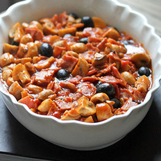 番茄橄榄培根烩白菇