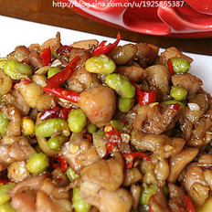 剁椒鸡丁毛豆子的做法