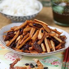 白辣椒炒腊味萝卜干的做法