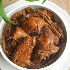 黄花菜炖鸡的做法