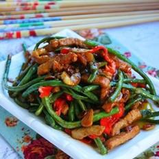 酱炒豇豆肉丝的做法