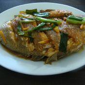 姜葱煎白鲫鱼