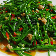 肉末炒韭菜花