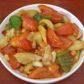 茄子炒西红柿的做法