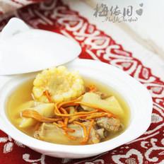 虫草花排骨莲藕汤的做法