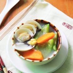 黄豆鼠瓜蛤蜊汤的做法