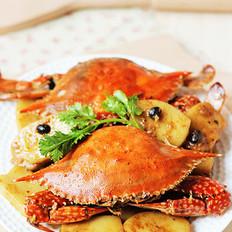 豉香梭蟹炒年糕 的做法