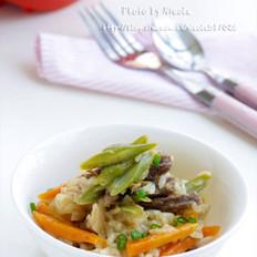 微波咖喱什锦烩饭的做法