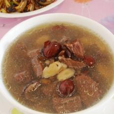 黄芪黑豆红枣牛肉汤的做法