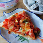 彩椒午餐肉披萨