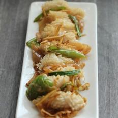 冬菜辣椒爆鮮魷的做法