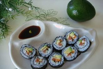 牛油果手卷寿司的做法