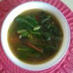 菠菜粉絲湯的做法