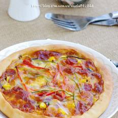 臘腸芝心披薩的做法