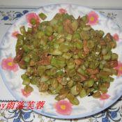芸豆炒肉丁的做法