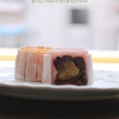 豆沙蛋黄冰皮月饼的做法