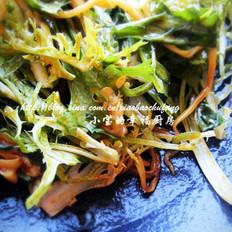 红油金针菇拌苦苣的做法