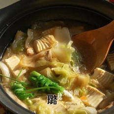 鲍汁白菜豆腐煲的做法
