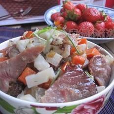 腊肉炒双丁的做法