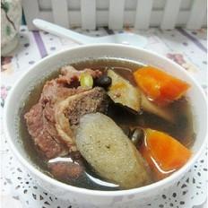 黑豆牛蒡猪骨汤的做法