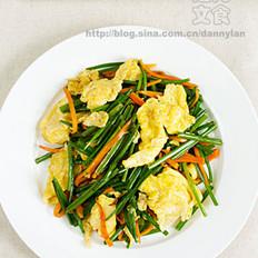 蛋炒韭菜苔的做法