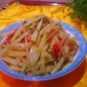 干焙蚝油茄汁土豆丝的做法