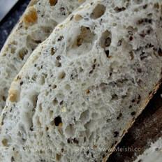 黄豆亚麻籽天然酵母面包